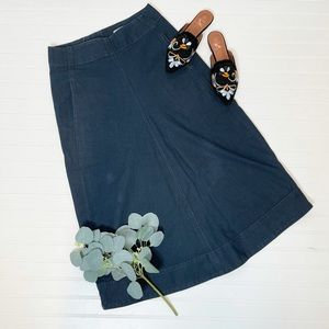 Lemaire Dark Blue Aline Denim Skirt 28 Waist